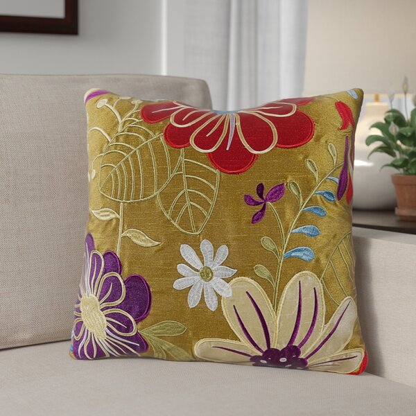 Armadillo Floral 100% Cotton Throw Pillow (Set of 2) by Andover Mills